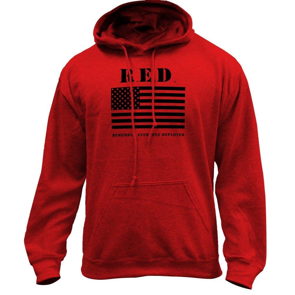 Original RED Friday Flag Remember Everyone Deployed Pullover Hoodie Sweatshirt