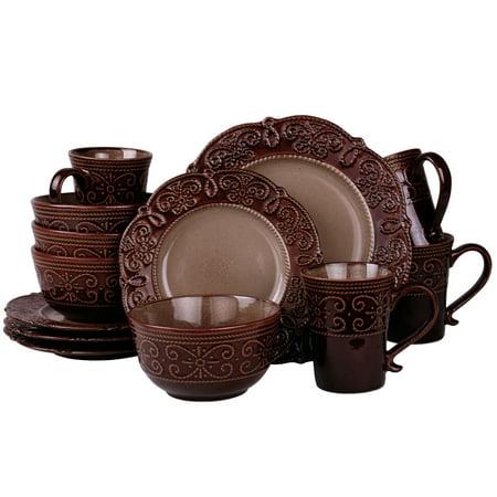 Elama's Salia 16 Piece Stoneware Dinnerware -