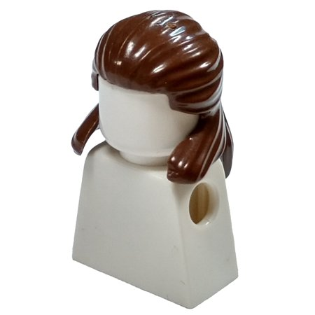LEGO Brown Pulled Back Loose Hair [Qui-Gon - Qui Gon Costume