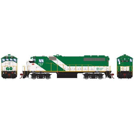 Athearn G40985 HO GO Transit  GP40-2W with DCC & Sound #707