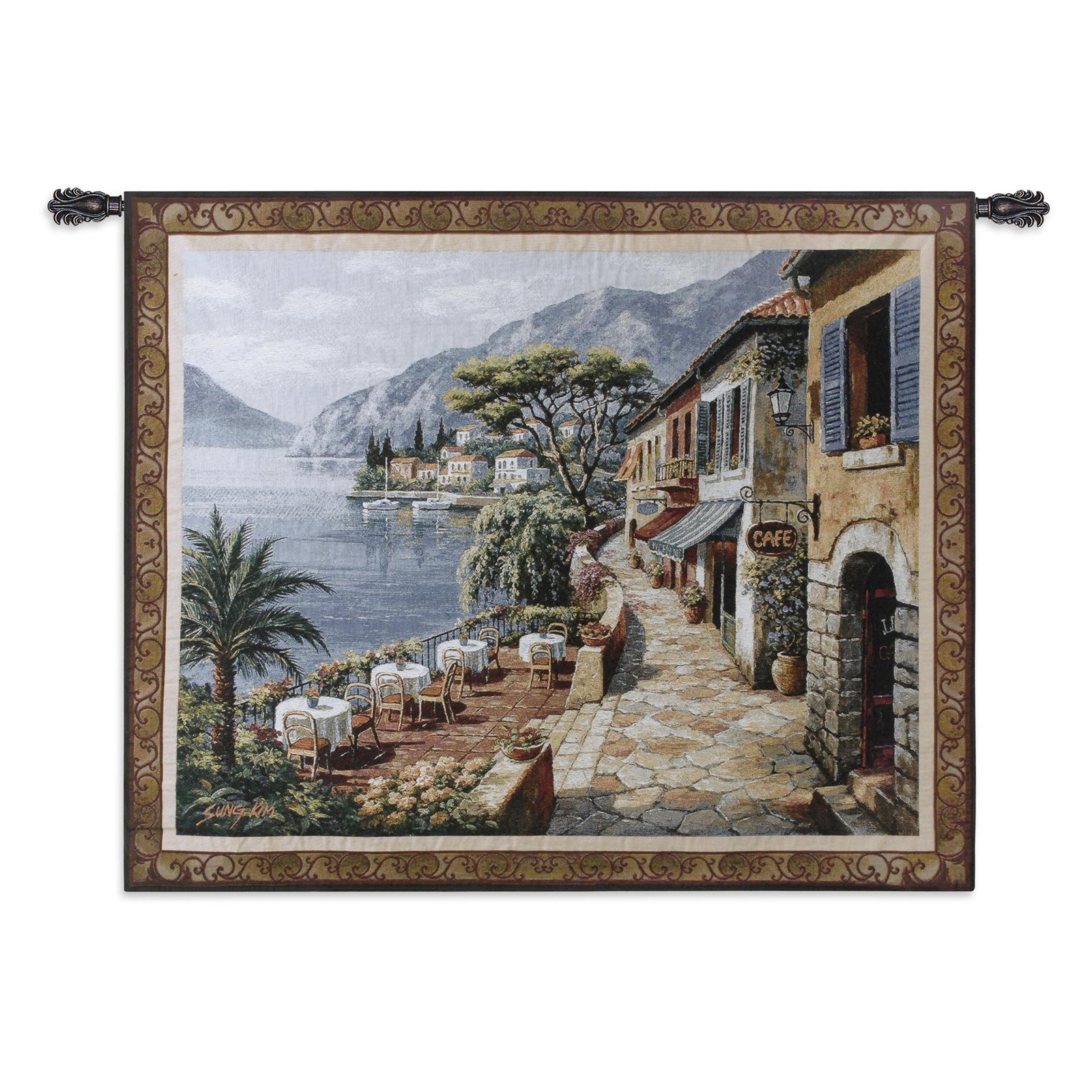 Fine Art Tapestries Overlook Cafe II Wall Tapestry by Supplier Generic