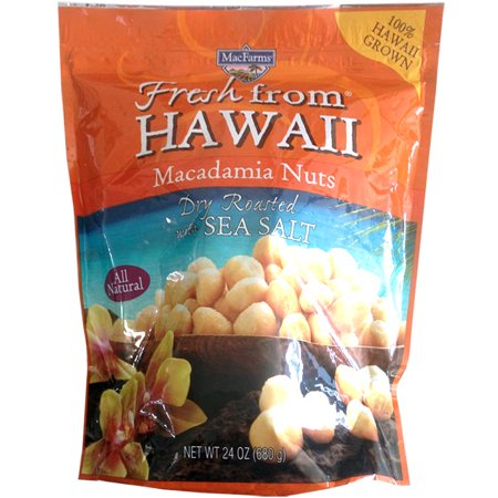 MacFarms Fresh from Hawaii Macadamia Nuts Dry Roasted with Sea Salt, 24 Oz.