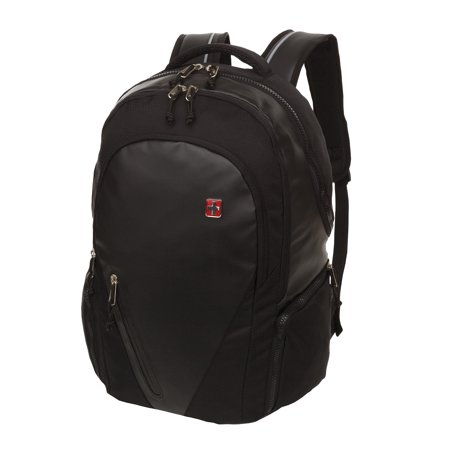 SwissTech Basel School Backpack with Laptop & Tablet Compartment, Black