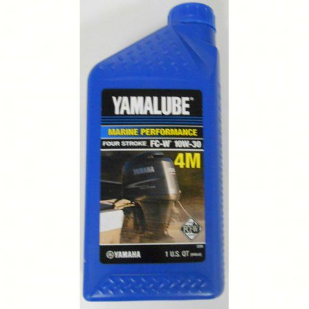 Yamaha ACC-Y4M10-30-12  ACC-Y4M10-30-12 Engine Oil, Yamalube 4-stroke Outboard Motor Marine 10W30 NMMA FCW (Low Phosphorous) Quart (Individual Bottle); New #