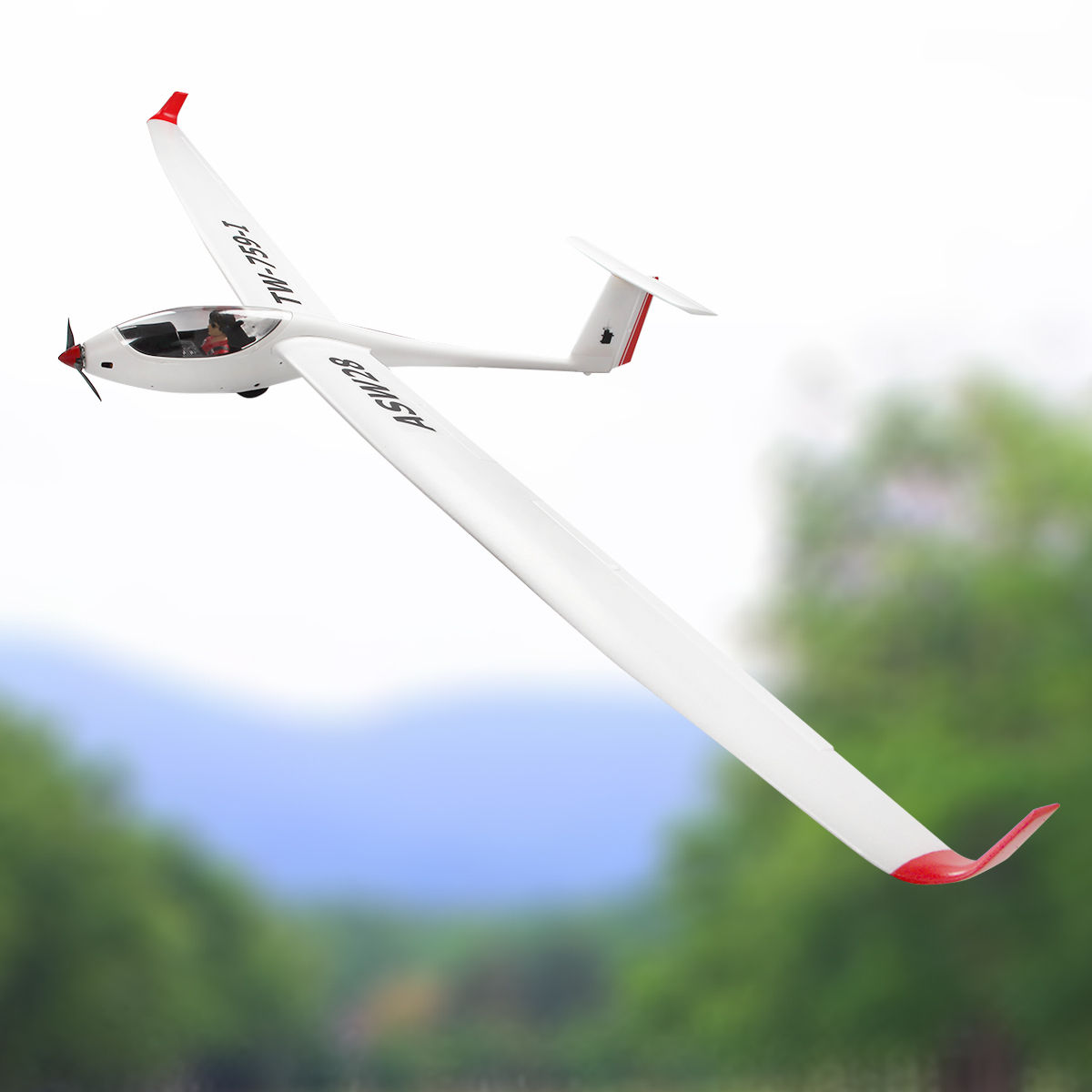 Costway Volantex ASW28 RC Glider Airplane Sailplane PNP Brushless No Radio by Costway
