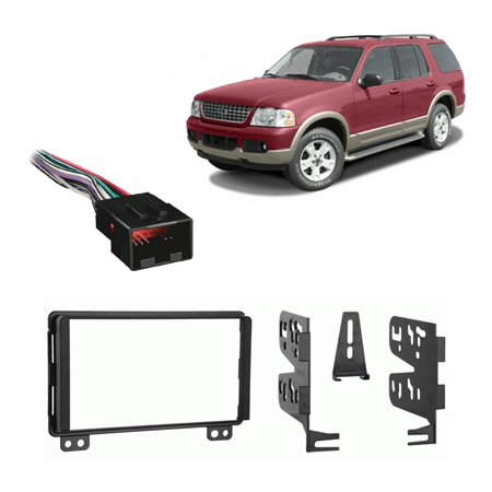 Ford Double Din Kit - Fits Ford Explorer 2002-2003 Double DIN Stereo Harness Radio Install Dash Kit
