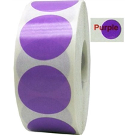 Purple Transparent Circle Dot Stickers, 0.75 Inch Round, 500 Labels on a Roll ()