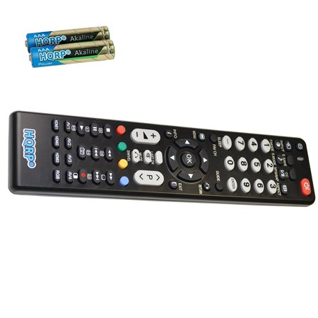 HQRP Remote Control for Hitachi CMP4211, CMP4212, CMP5000WXU, EN32956H, L32A104 LCD LED HD TV Smart 1080p 3D Ultra 4K Plasma + HQRP Coaster ()