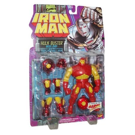 Marvel Comics 1995 Iron Man 5 Inch Action Figure - Iron Man HULK BUSTER with Power Removable Armor 5 Action Figure Iron