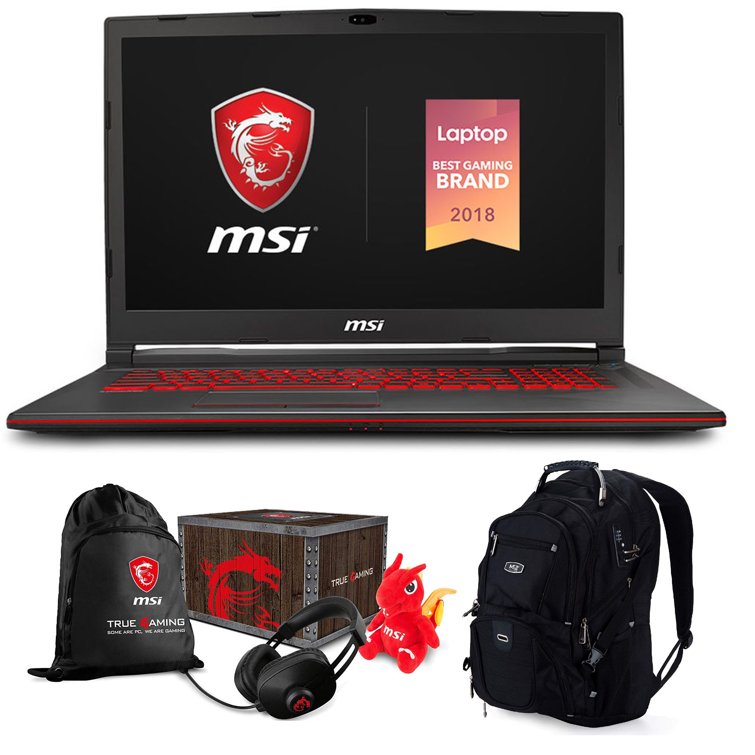 "MSI GL73 8SE-010 17.3"" Gaming Laptop (Intel 8th Gen i7-8750H 6-Core, 16GB RAM, 1TB HDD + 128GB PCIe SSD, 17.3"" Full HD 120Hz 3ms, NVIDIA RTX 2060 6GB, Win 10 Home) With MSI Loot Box and ME2 Backpack"