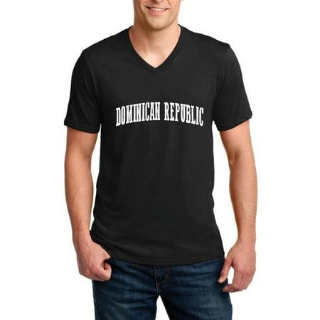 Dominican Republic Men V-Neck Shirts Ringspun Tee (Best City In Dominican Republic)