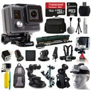 GoPro HD HERO Waterproof Action Camera Camcorder (CHDHA-301) with 16GB MicroSD + Large Case + Selfie Stick Monopod + Stabilizer Holder + Chest Strap + Car Charger + Floating Bobber + Backpack