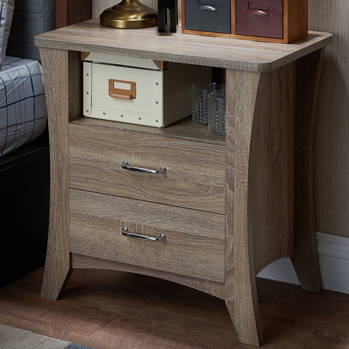 Acme Colt Nightstand, Rustic Natural by Acme Furniture