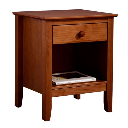 Easy Pieces Solid Pine Single Drawer End Table - Pecan