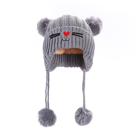 1bd69f116 Ymiko - Ymiko Baby Infant Toddler Knitted Crochet Earflap Hat Autumn ...