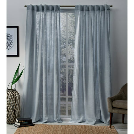 Exclusive Home Curtains 2 Pack Bella Hidden Tab Top Curtain Panels ()