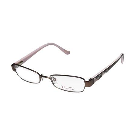 New Thalia Deseo Childrens/Kids/Girls Designer Full-Rim Brown / Multicolor Cute Glamorous For Girls Teens Frame Demo Lenses 46-16-125 Spring Hinges Eyeglasses/Spectacles ()