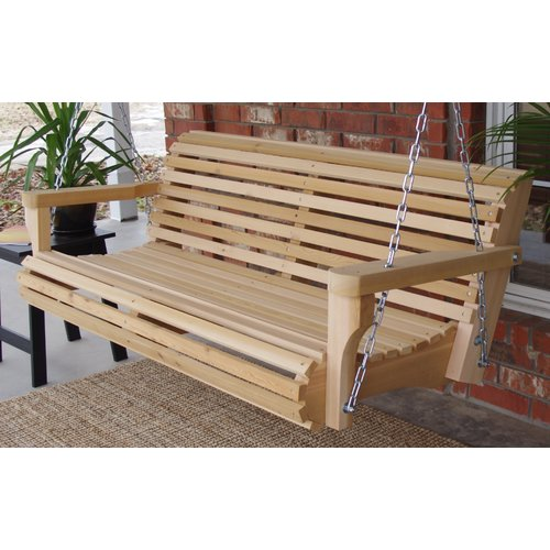 Highland Dunes Himes Contoured Classic Porch Swing