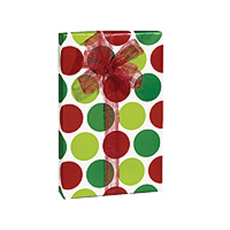 Red Polka Dots (Red and Green Polka Dots Merry Dots Holiday /Christmas Gift Wrapping Paper)