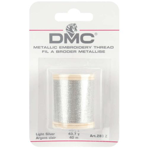 DMC Metallic Embroidery Thread 43.7 yards-Light Silver