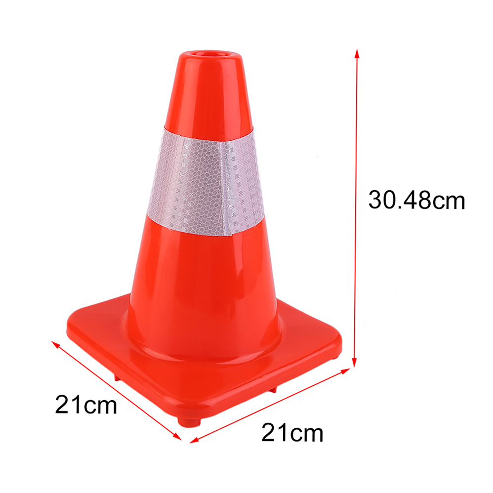 4pcs/set 12/18/28 Inch PVC Road Traffic Reflective Safety Cones Warning Sign