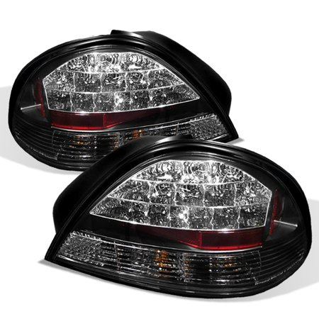 Fits 99-05 Pontiac Grand Am Se Gt Black LED Tail Brake Lights Lamps Left+Right 1997 Pontiac Grand Am Tail