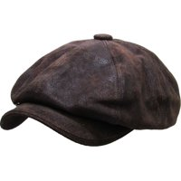 65525babf6a Product Image 100% Genuine Leather Dark Brown Mens Ivy Hat Golf Driving  Ascot Flat Cabbie Newsboy