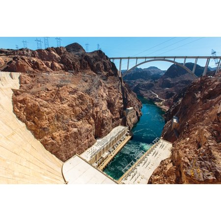 Laminated Poster Electricity Hoover Dam America Southwest River Poster Print 11 x -