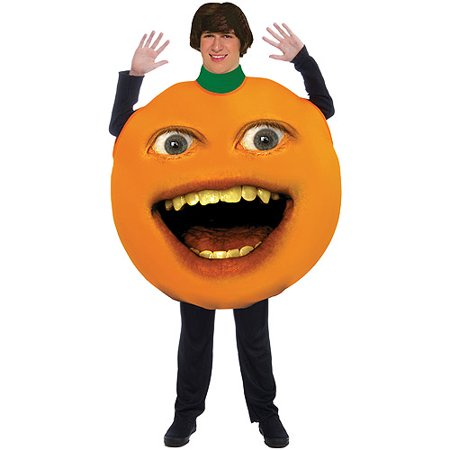 Annoying Orange Adult Halloween Costume - One Size Up to a 42