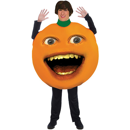 "Annoying Orange Adult Halloween Costume - One Size Up to a 42"" Chest"