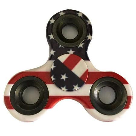 - USA Flag Stars and Stripes EDC Fidget Spinner by Blinkee