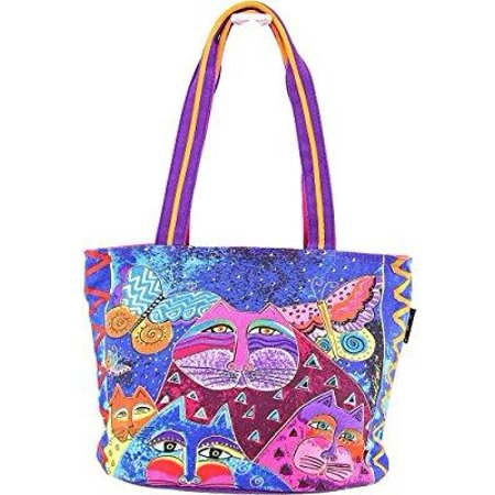 Butterfly Studded Tote - laurel burch cats with butterflies medium tote (multi)