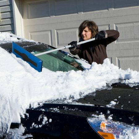 Snow Joe Telescoping Snow Broom W Ice Scraper Sjblzd