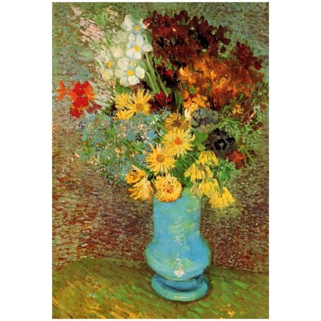 Vincent Van Gogh Vase with Daisies and Anemones Art Print Poster Poster