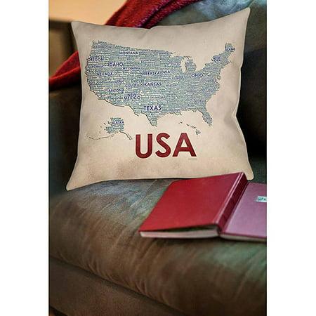 Thumbprintz Usa Decorative Pillow - Walmart.com