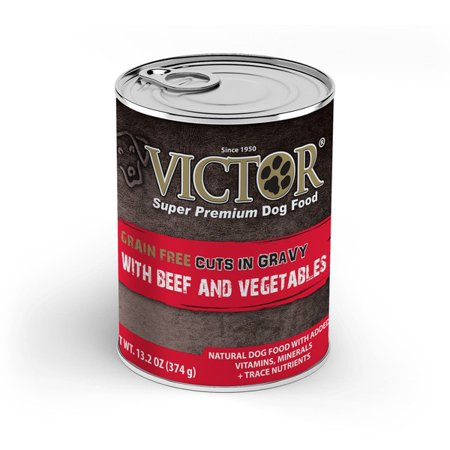 Victor - Mid America Pet Food 08632306 Victor Grain-Free Beef & Vegetables Entree In Gravy Canned Dog Food - (Vegetables Entree Slices)