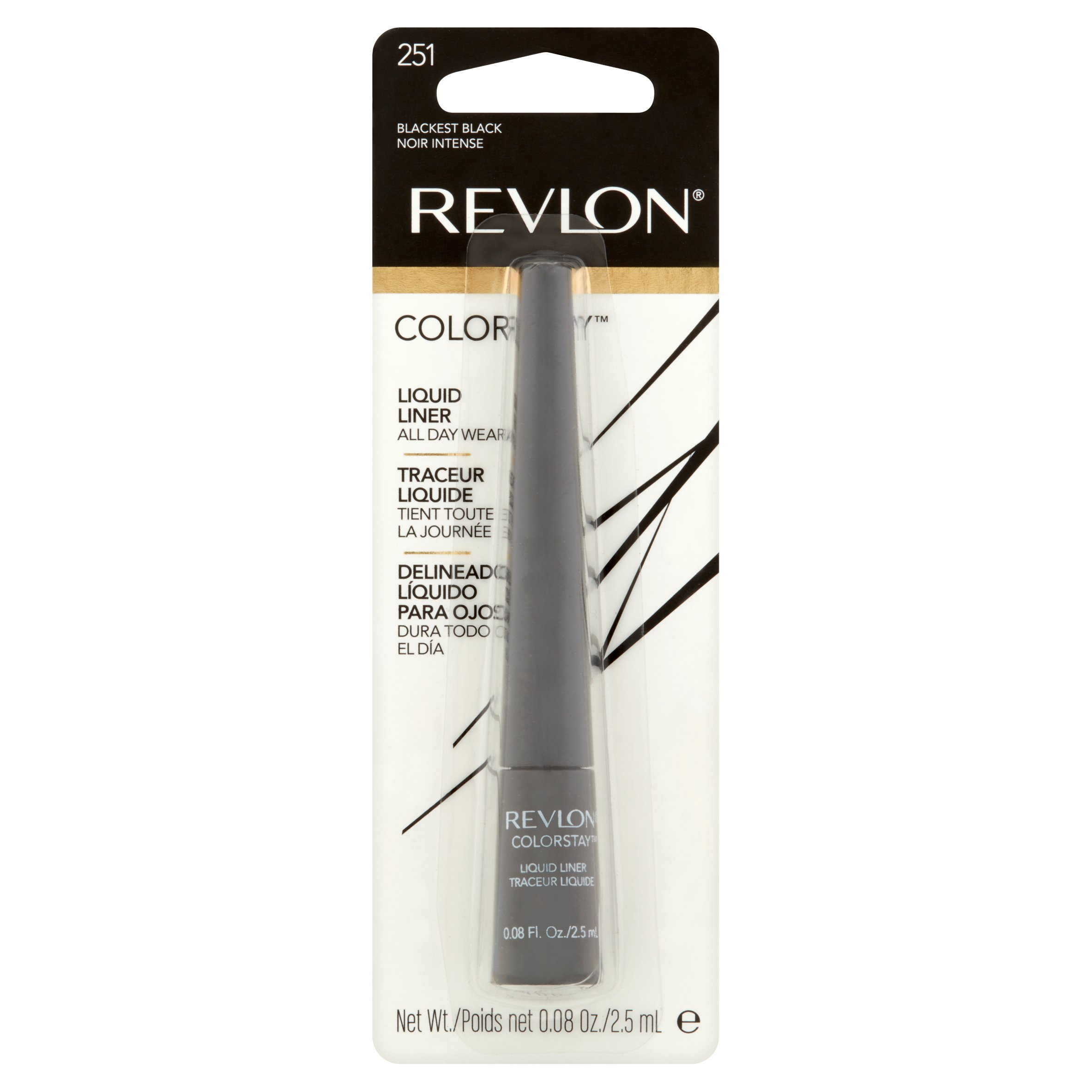 Revlon Colorstay Liquid Eyeliner.08 fl oz, Blackest Black