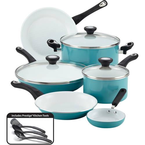 Farberware PURECOOK Ceramic Nonstick Cookware 12-Piece ...