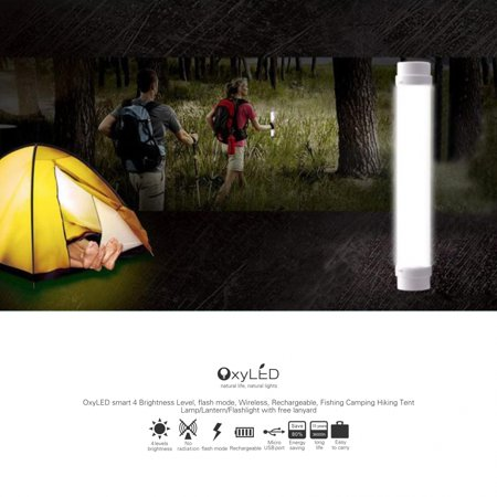 OxyLED LED Camping lights Bright Portable LED Emergency Tent Light Camping Lamp Lantern Flashlight, USB Charging, White