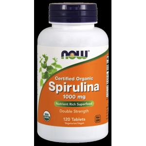 Now Foods Organic Spirulina Tablets, 1000 Mg, 120 Ct