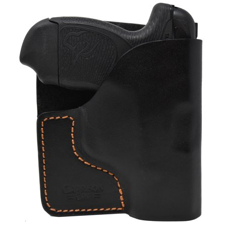 Premium Stitch Black Italian Leather Pocket Holster for Taurus Spectrum