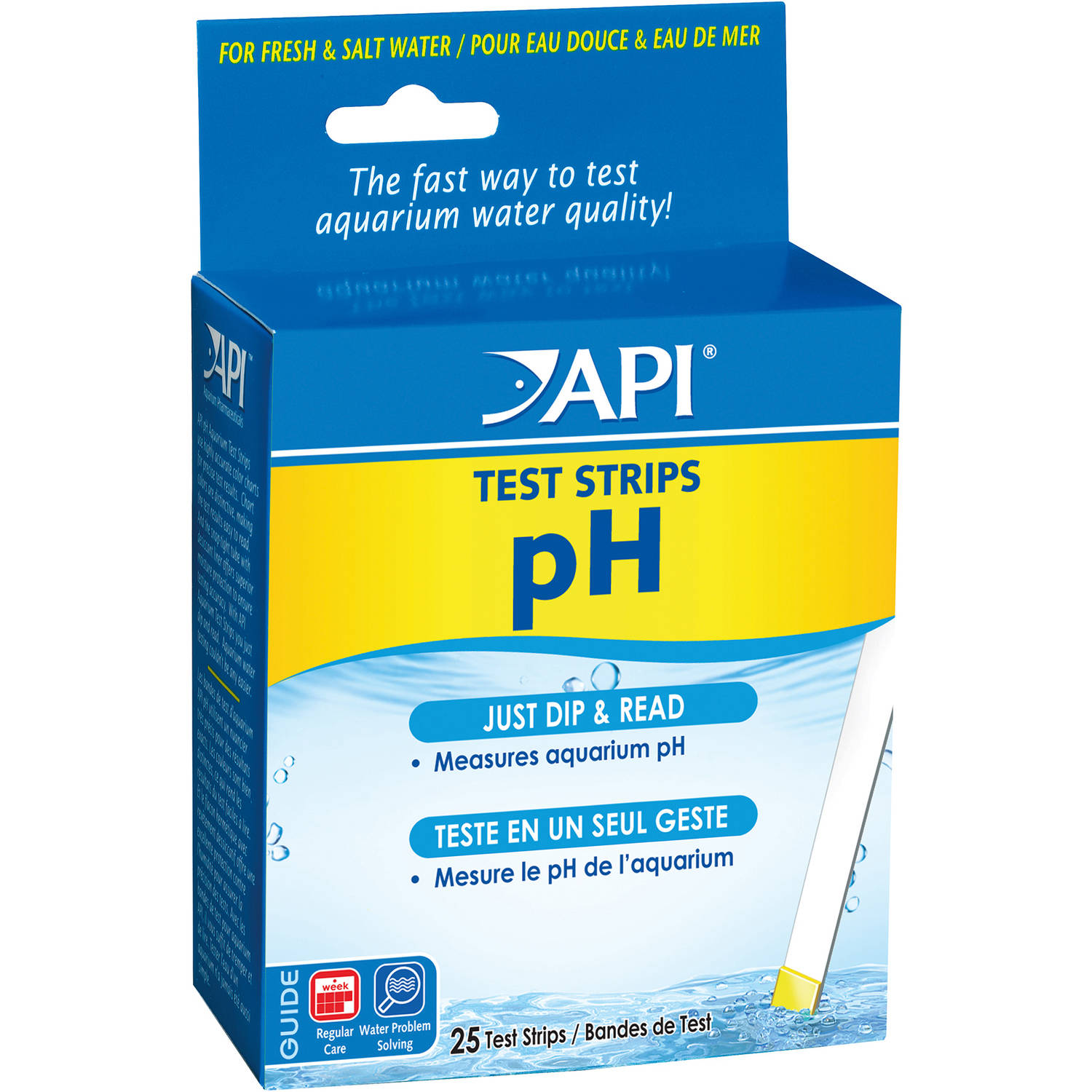 API Aquarium Pharmaceuticals 33F 25 PH Aquarium Test Strips