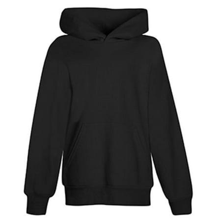 Hanes P473 Youth Comfortblend Ecosmart Pullover Hood Sweatshirt, Black, Small - image 3 de 3