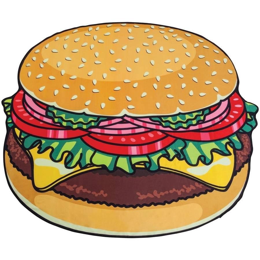 BigMouth Inc Gigantic Burger Beach Blanket