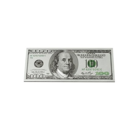 Money 100 Dollar Bill (Silver Plated Novelty Ben Franklin $100 Dollar Bill Fridge Magnet Money Motivation)