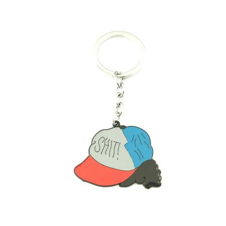 Stranger Things Hat Fashion Novelty Keychain Movie TV