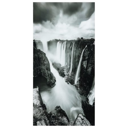 Venini Art Glass - Empire Art Direct The Falls Frameless Free Floating Tempered Glass Panel Graphic Wall Art, 72