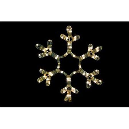Winterland WL-SNOWF-12-WW 12 in. Ropelit Snowflake LED - Warm White - Winterland Theme