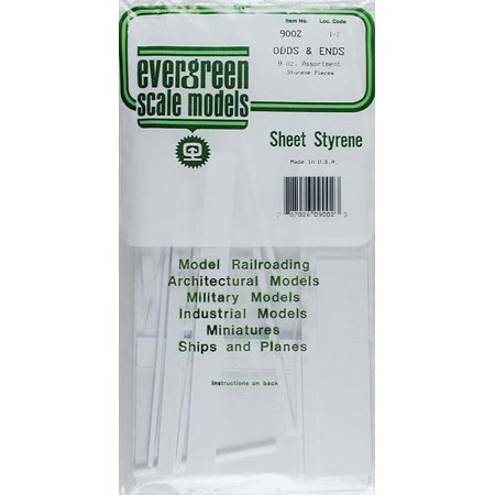 White Sheet Odds & Ends,standard, White Sheet Odds & Ends By Evergreen Scale