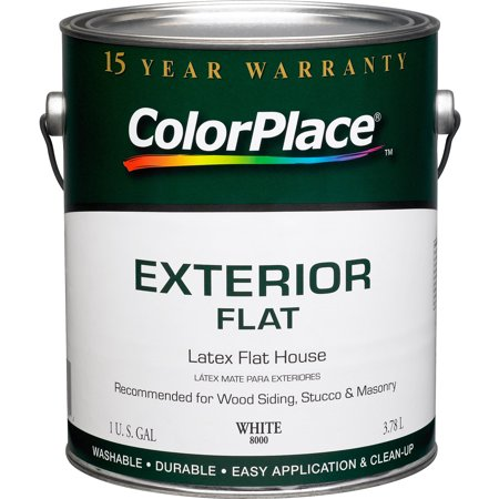 Color Place Exterior Flat Paint White